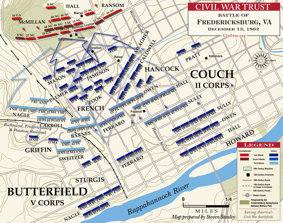 Fredericksburg Virginia Map.Battle Of Fredericksburg 1st And 2nd Civil War Class Site Pd4